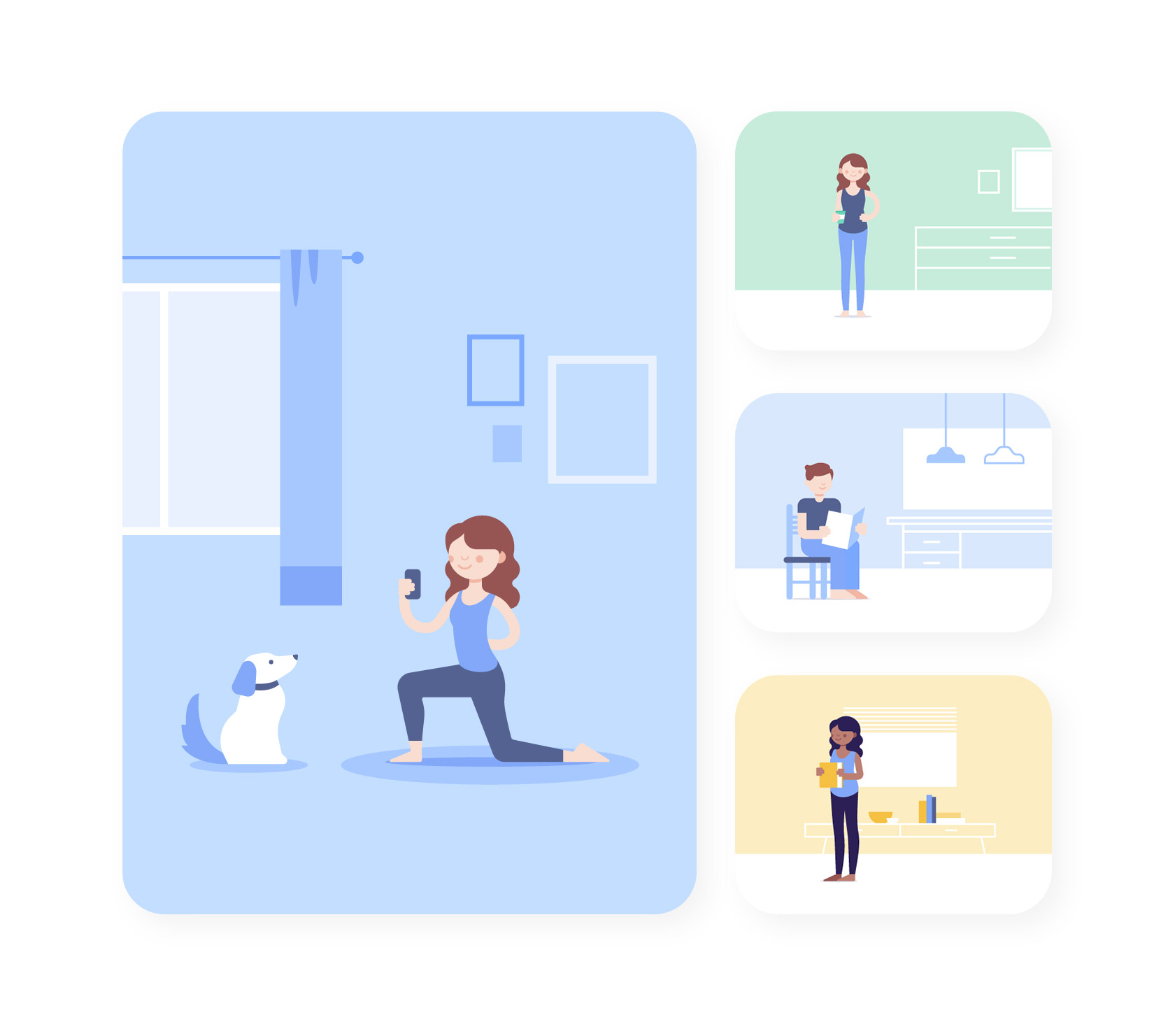 Illustrations created for the landing page